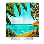 A Day In Paradise Hawaii Beach Shack  #360 Shower Curtain