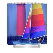 A Day Of Sailing Shower Curtain