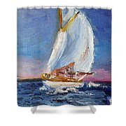 A Day On A Boat Is..... Shower Curtain