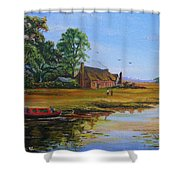 A Day On The Canal Shower Curtain