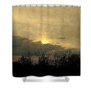 A  December Sunset 2 Shower Curtain