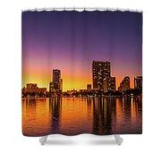 A December Sunset Shower Curtain