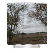A Desert Ranch Shower Curtain