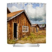 A Deserted Sawmill Town Shower Curtain