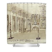 A Design For A Music Room Shower Curtain