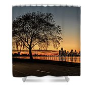 A Detroit Sunset - The View From Belle Isle Shower Curtain