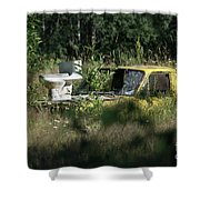 A Different Dump Truck Shower Curtain