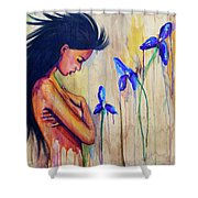 A Different Kind Of Blue Shower Curtain