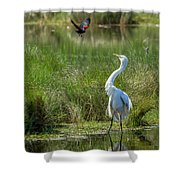 A Disagreement At The Pond Shower Curtain