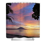 A Distant Island Shower Curtain