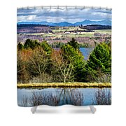 A Distant Jay Peak Shower Curtain