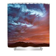 A Divided Sky At Sunset Shower Curtain