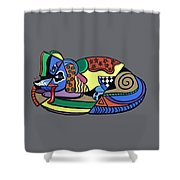 A Dog Named Picasso T-shirt Shower Curtain