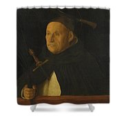 A Dominican With The Attributes Of Saint Peter Martyr Shower Curtain