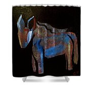 A Donkey Named Frog Shower Curtain