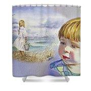 A Dream Of An Ocean Shower Curtain