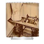 A Dressmakers Corner Shower Curtain