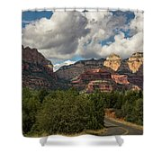 A Drive Through The Red Rocks  Shower Curtain