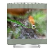 A Drop In Time Shower Curtain