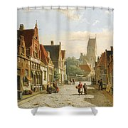 A Dutch Street In Summer Shower Curtain