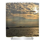 A Evening With Hudson River Shower Curtain