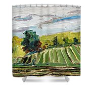 A Fall Day In The Townships Shower Curtain