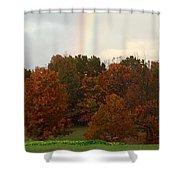 A Fall Rainbow Shower Curtain
