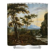 A Fantastic Countryside Around Rome Shower Curtain