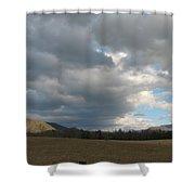 A Far View Shower Curtain