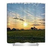 A Farmer's Morning 2 Shower Curtain