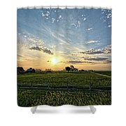 A Farmers Morning Shower Curtain