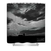 A Farmer's Sunrise Shower Curtain