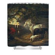 A Farmyard Shower Curtain by George Morland