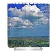 A Few Clouds In Keywest Shower Curtain