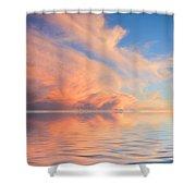 A Fiery Horizon Shower Curtain