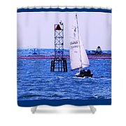 A Fine Day For A Sail Shower Curtain