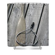 A Fisherman's Tools Shower Curtain