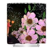 A Flower Fairy Shower Curtain