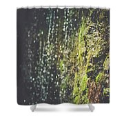 A Flowing Rock Shower Curtain