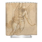 A Flying Angel Shower Curtain