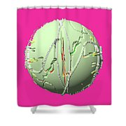 A Flying Object Shower Curtain