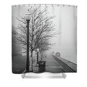 A Foggy Walkway Shower Curtain