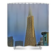 A Foggytrans American Building Shower Curtain
