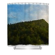 A Forested Dune... Shower Curtain