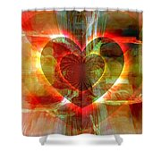 A Forgiving Heart Shower Curtain