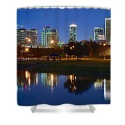 A Fort Worth Night Shower Curtain