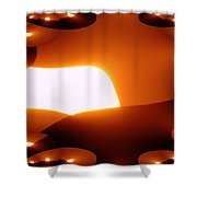 A Fractual Sunrise  Shower Curtain