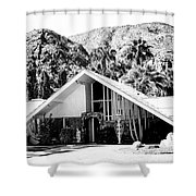 A Frame Bw Palm Springs Shower Curtain