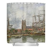 A French Port Shower Curtain