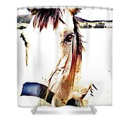 A Friend Loves At All Times Shower Curtain